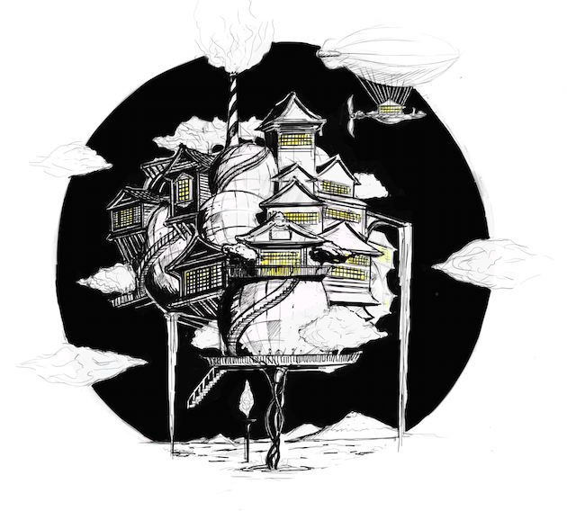 Stephen Mushin Dogo Art Festival Concept Sketch
